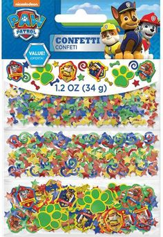 Add a touch of color to all the tables in your home with this PAW Patrol Confetti! The package includes 1 oz. of confetti in three different designs. (Also works for stuffing party favor bags! 4th Birthday Parties, Boy Birthday, Birthday Ideas, Summer Birthday, Paw Patrol Party Decorations, Paw Patrol Birthday, Puppy Party, Ebay, Birthday Supplies