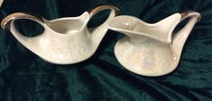 Pioneer Pottery USA 22k Lusterware Creamer/Sugar Set by DublinsAttic on Etsy
