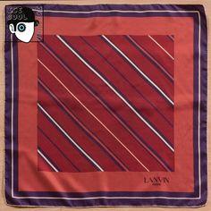 LANVIN - PARIS  70s GEOMETRIC MOTIF SILK SCARF - (Z)