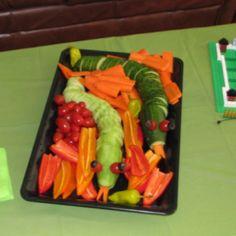 Veggie snakes... Made them for a Ninjago themed birthday party.