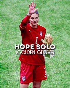 Hope Solo | Golden Glove. USA Campeón Mundial Femenino.