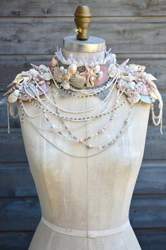 This article is not available - Shell Mermaid Epaulette's Shoulder Epaulette's Shell image 5 - Shabby Chic Baby, Black Shabby Chic, Shabby Chic Headbands, Shabby Chic Flowers, Flower Girl Headbands, Lace Headbands, Pearl Headband, Jellyfish Tattoo, Jellyfish Quotes