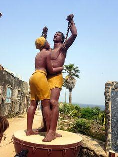 The AfroFusion Spot: Travel Diaries: Exploring Goree Island in Dakar, Senegal, art, island, views, architecture, goree, dakar, senagal, travel, trave diaries, african art, african, africa, tour, tourist, statue, slave slavery
