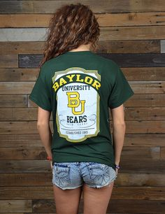 Stock up on your Collegiate wear! You will enjoy this new Baylor University t-shirt! Sic 'em Bears!