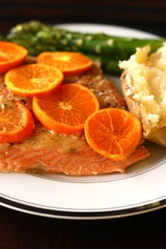 Orange Grilled Salmon - perfect for Mother's Day!