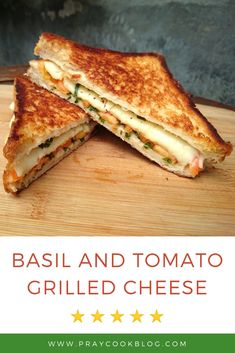 Basil and Tomato Grilled Cheese Sandwich Recipe – This simple grilled cheese recipe is perfect if you have some basil and tomatoes laying around. With a quick trip to the garden or your pantry you're ready to eat! Grill Sandwich, Grilled Sandwich Recipe, Grill Cheese Sandwich Recipes, Grilled Cheese Recipes, Simple Sandwich Recipes, Grilled Cheese With Tomato, Grilled Cheeses, Fresh Basil Recipes, Sandwiches