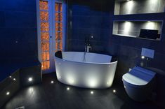 Bathroom Ideas - LED Mood Lighting, Rockash Bath