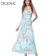 Floral Strapless Off Shoulder Long Maxi Dress. Summer Dresses For WomenLong  ... 42e9aa2c14ec