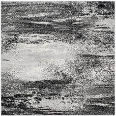 Safavieh Adirondack Modern Abstract Silver/ Multicolored Rug (6' Square)