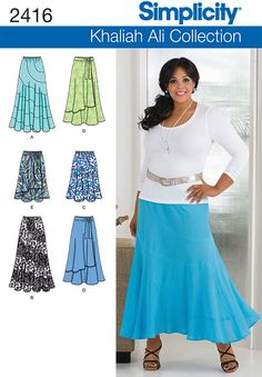 2416 Misses' & Plus Size Skirts
