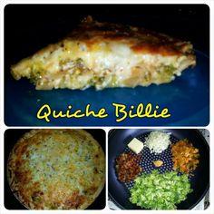 Quiche with bacon, broccoli, kimchi, and onions #MrsKimchi #BillieCooks #homemade #Koreanfood #fusion