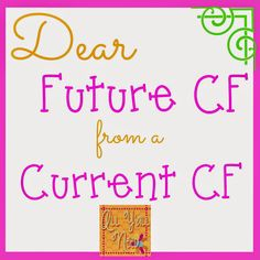 All Y'all Need: Dear Future CF from a Current CF. Pinned by SOS Inc. Resources. Follow all our boards at pinterest.com/sostherapy/ for therapy resources.