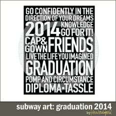 Subway Art: Graduation 2014