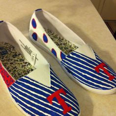 Texas Rangers shoes. Target shoes I painted myself.