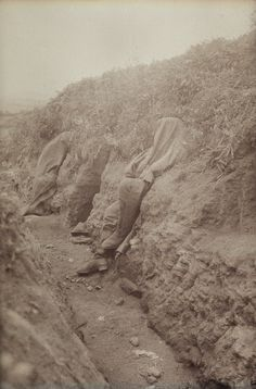 Haunting image of the German trenches from the First World War.