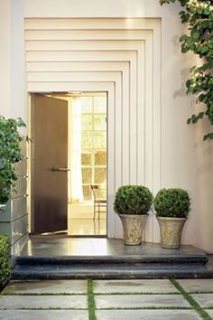 one of the chicest doors i have ever seen.