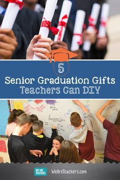 5 Senior Graduation Gifts Teachers Can DIY. Send your high schoolers off to the real world with these meaningful senior graduation gifts that teachers can easily DIY. Student Christmas Gifts, Student Gifts, Teacher Gifts, Cheap Graduation Gifts, High School Graduation Gifts, Senior Student, Senior Gifts, Best Teacher, Senior Year