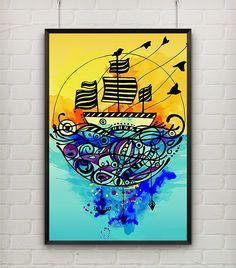 ilustração barco urban arts deduasuma