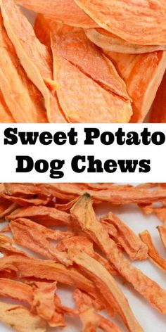 Sweet Potato Chews for Dog Stop giving your dog store bought chews that are full of questionable ingredients and start making them homemade dog treats. These Sweet Potato Chews for dogs are the perfect snack for your pet and they are so easy to make! Sweet Potato Dog Chews, Sweet Potatoes For Dogs, Homemade Dog Cookies, Homemade Dog Food, Cookies For Dogs, Diy Dog Treats, Healthy Dog Treats, Homeade Dog Treats, Frozen Dog Treats