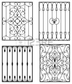 A Short History Of Wrought Iron Door Inserts Wrought iron is an excellent material for making protective and decorative doors. The metal is made out of pure iron. It was the metal of choice for. Iron Window Grill, Window Grill Design, Fence Design, Wrought Iron Decor, Wrought Iron Gates, Iron Windows, Iron Doors, Balustrades, Motif Vintage