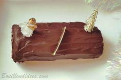 Bûche de Noël roulé chocolat sans GLO (sans gluten, sans lait - PLV ou Lactose, sans oeuf)