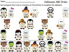 halloween game kindergarten letters | Kindergarten Halloween Pack ~ This pack contains Halloween themed ...