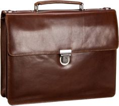 Leonhard Heyden Cambridge 5251 Aktenmappe 2 Fächer Cognac - Notebooktasche   Tablet
