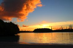#sunset #nouvelle caledonie #sea #clouds #beach #amazingplaces