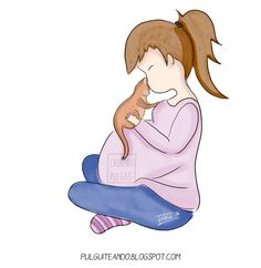 La toxoplasmosis en el embarazo http://pulguiteando.blogspot.com.es/2016/11/la-toxoplasmosis-en-el-embarazo.html #maternity #maternidad #ilustración #dibujo #draw #childhood #niños #infancia #maternidadilustrada