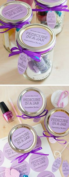 Pedicure in a Jar | Click Pic for 18 DIY Mothers Day Gift Ideas for Kids to Make | Last Minute Mothers Day Gifts from Daughter #giftsinajar Jar Gifts Gifts in a Jar