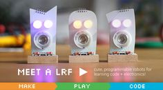 "Meet LRF the ""Little Robot Friends"" #Robot #STEM #Arduino"
