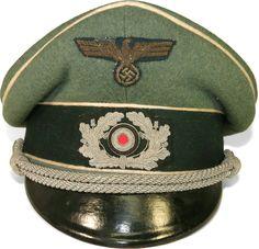 379575d4d6265 Wehrmacht Infantry visor hat German Uniforms