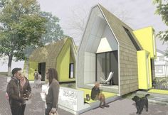 David Hill and In Situ Studios Propose Gorgeous Affordable Alley Homes in Raleigh