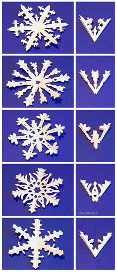 How to make amazingly intricate snowflakes Paper Snowflake Designs, Paper Snowflakes, Christmas Snowflakes, Winter Christmas, Christmas Holidays, Christmas Decorations, Christmas Ornaments, Origami, Christmas Projects