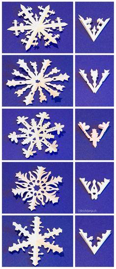 #Snowflakes #paper #craft