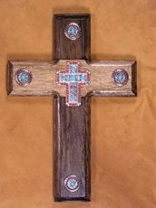 Concho Wall Cross By Green Ranch Gallery