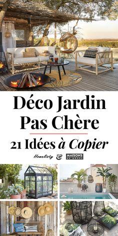 Maison du Monde Jardin: 21 cheap home decor ideas for 2019 Garden Deco, Balcony Garden, Steep Backyard, Outdoor Furniture Sets, Outdoor Decor, Back Gardens, Garden Styles, Pergola Designs, Cheap Home Decor