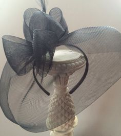Black Fascinator Hat Kentucky Derby Hat Race by RubyandCordelias