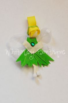 Disney Tinkerbell Inspired Hair Clip by WhitneyBoutique on Etsy, $4.00