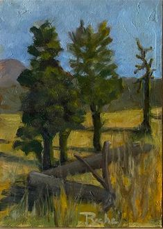 """""""Taos Trees on Mountaintop"""" - © Mary Pyche - on board - in - Plein air painting on a trip to Taos. Finished in studio. It was very quiet up there on top of the mountain late in the day. Fine Art Gallery, Art Ideas, Mary, Mountain, Trees, The Originals, Studio, Artist, Pictures"""