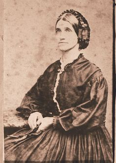 Laura Jackson Arnold, the sister of Thomas J. Stonewall Jackson, around the time of the Civil War. (Sidenote: My g-g-g-grandmother is presumably named for her. American Women, American History, Battle Of Chancellorsville, Jonathan Jackson, Confederate States Of America, Confederate Leaders, Stonewall Jackson, Hair Nets, Civil War Photos