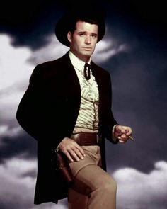 James Garner as Bret Maverick in the Warner Bros. television series, Maverick.
