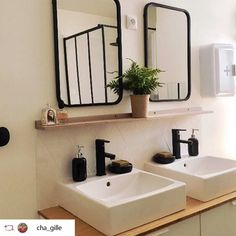 Cosy Interior, Interior Design, Bathroom Wall, Bathroom Medicine Cabinet, Body Tech, Jack And Jill, Wall Tiles, Double Vanity, Sweet Home