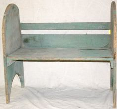 Green Painted Bucket Bench : $400