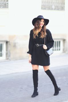 Trendy Taste     Knit and Boots