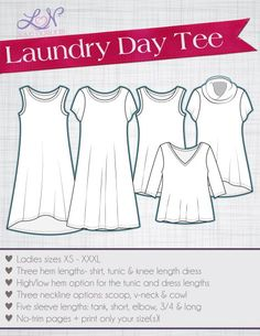 Laundry Day Tee XS-XXXL - Love Notions Sewing Patterns