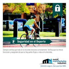 Si utilizas la bicicleta verifica que todo funcione correctamente, que los frenos funcionen bien y asegúrate que no haya partes flojas o rotas #SeguridadDeportiva