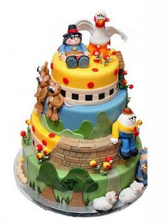 Mother Goose cake.