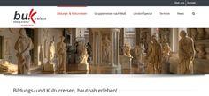 Die neue Webseite von buk Reisen - Bildungs- und Kulturreisen - hautnah erleben! - ist online. Schaut mal vorbei www.buk-reisen.de - dort gibt es sehr schöne Angebote