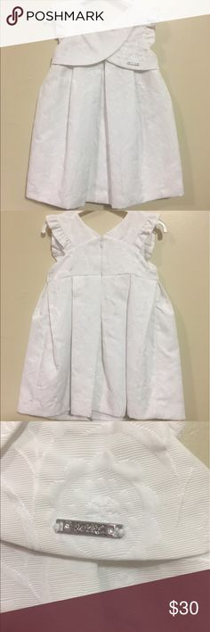 Mayoral white dress Precious white dress that is even more adorable on Mayoral Dresses Casual